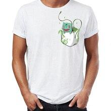 Mens t-shirt Pokemon Starters Pocket Version Mewtwo Gengar Pikachu Charmander Squirtle Bulbasaur Gaming Gamer Tshirt Tees Tops