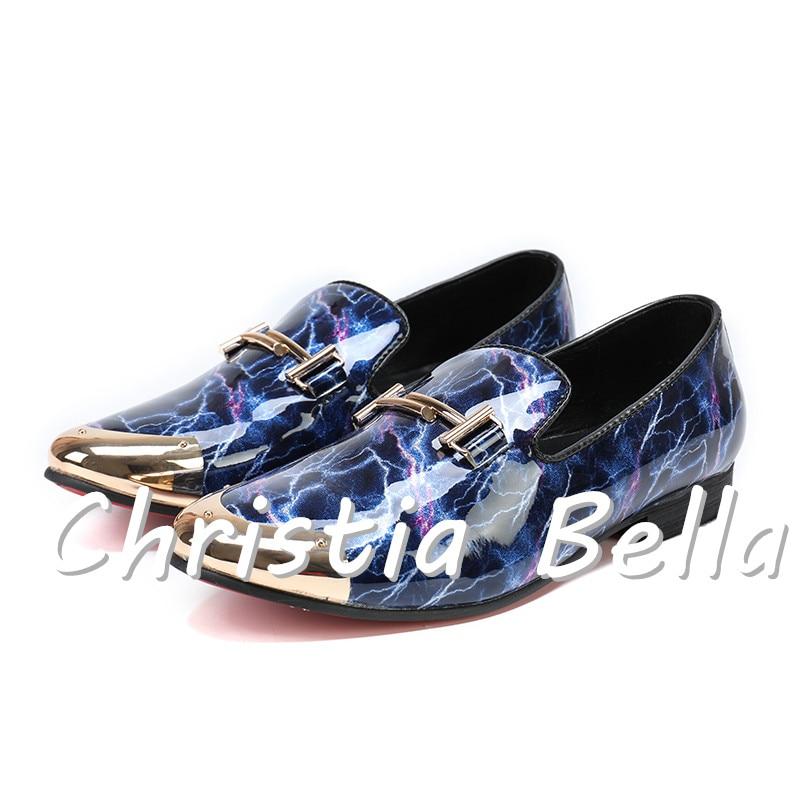 Christia Bella Männer Kleid Schuhe-Patent Leder Luxus Mode Bühnenoutfit Bräutigam Hochzeit Schuhe Männer Oxford Schuhe 38-47