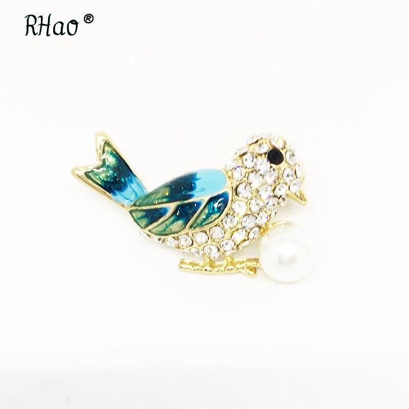Emaille Vogel Broschen Pins für Frauen Bankett Kostüm Dekoration Spiel Cut Elster Tier Brosche Hijab Pin