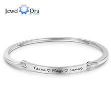 Персонализированные ID браслеты на заказ Гравировка Имя 2 цвета модные браслеты и браслеты для женщин (JewelOra BA102095)