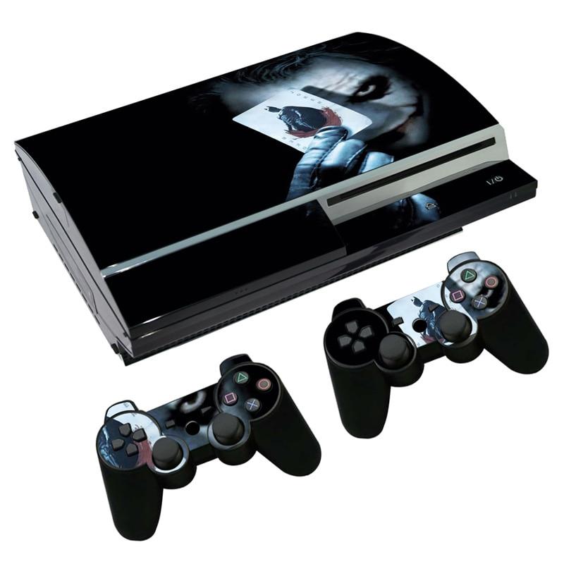 Pegatina adhesiva DC The Joker Skin para PS3 Fat PlayStation 3 consola y controladores para PS3 Skins película de vinilo