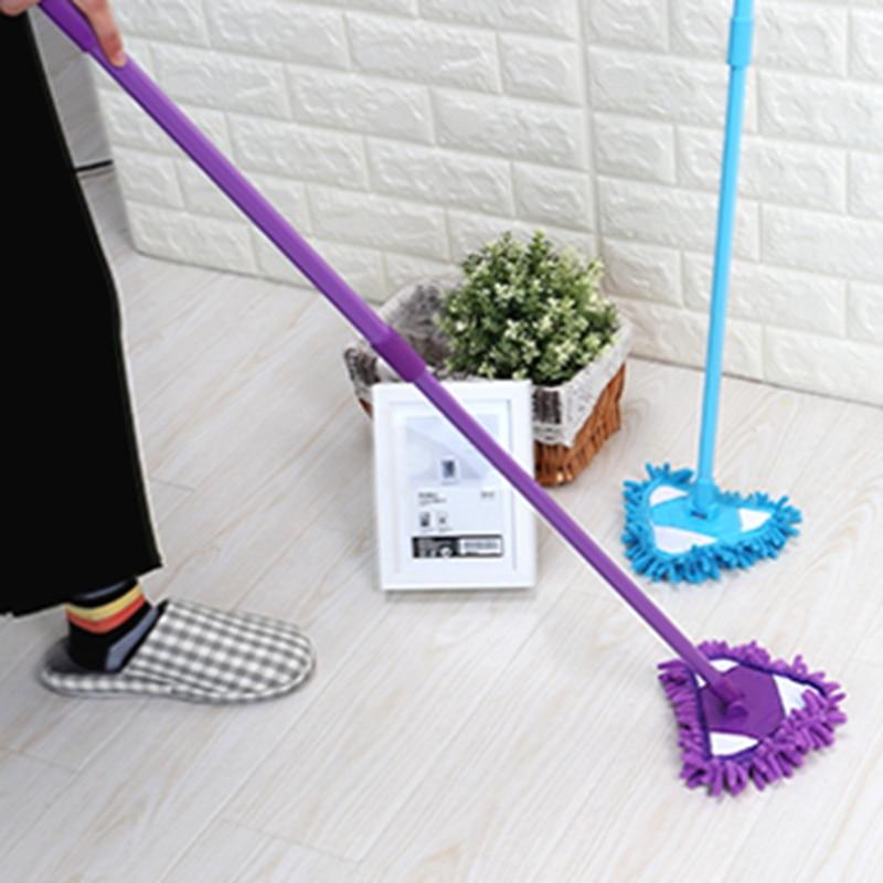 Mini mopa tres colores opcional perezosos planos RP pared cepillo para limpieza en el hogar fregona de felpilla mopa de limpieza polvo cepillo