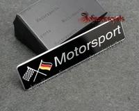 10pcs aluminum alloy 3d german motorsport badge emblem body sticker 120mm26mm good quality car styling