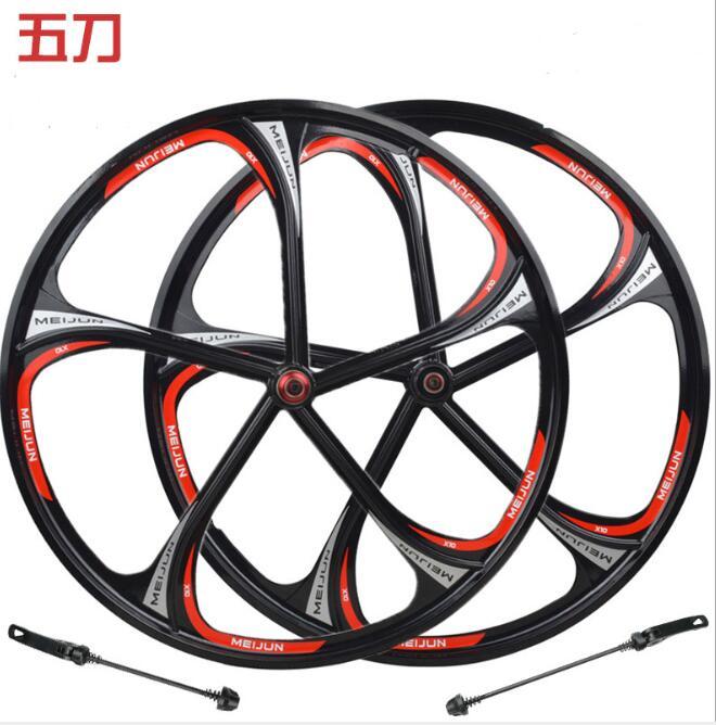 26 zoll magnesium legierung rad hub Magnesium 5/6 messer lager rad felge mountainbike karte schwungrad