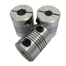 5mm to 12mm Flexible Shaft Coupler 5*12mm Flex Clamp Shaft Coupling Connector Diameter 25mm Length 30mm