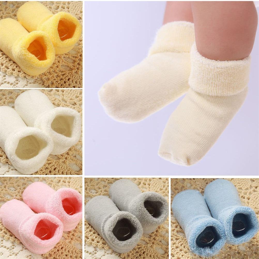 Nuevo recién nacido Niño infantil botas Invierno Caliente niño bebé suave botines calcetines Zapatos para 0-2 años bebé niña Niño 1 par