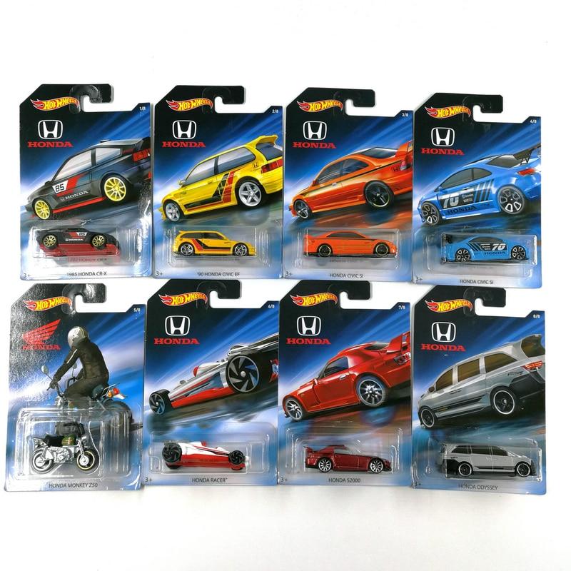 Хит продаж, колеса 164, машинка для HONDA CIVIC, Одиссея обезьяна, 70-я годовщина, сборщик, литой металл, модель автомобиля, детские игрушки в подарок