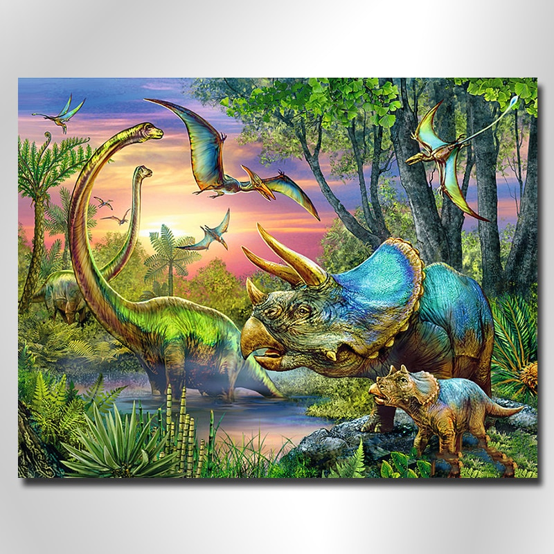 "Full Round/square Drill 5D DIY Diamond Painting ""Dinosaur world"" Embroidery Cross Stitch 5D Home Decor DiamondPainting"