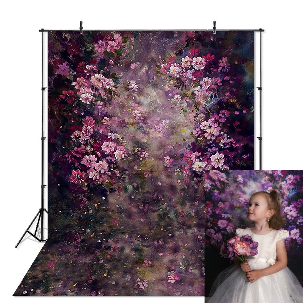 Flower Photography Backdrop Wedding Floral Painting Background Photo Studio Newborn Baby Child Photophone Photocall