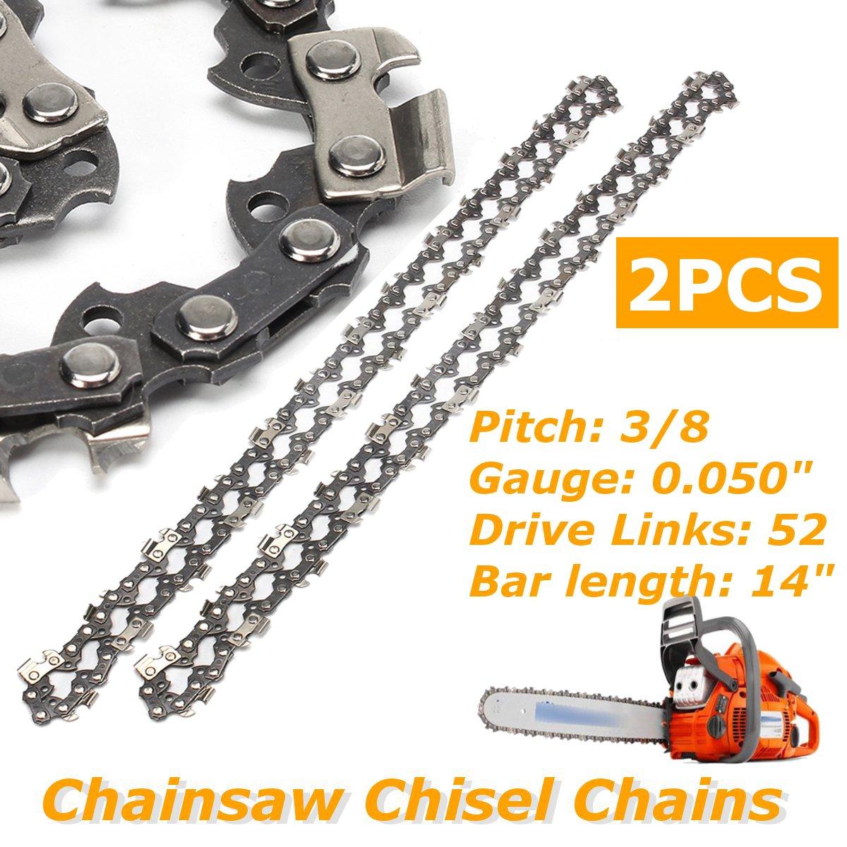 2 pz / set 14 pollici motosega motosega catena di collegamento passo 52 collegamento 3 / 8LP 050 calibro lama della motosega per attrezzi da giardino Husqvarna