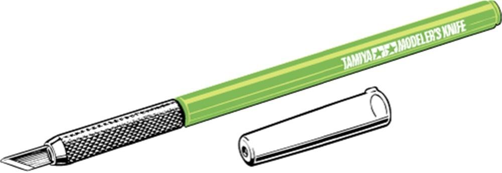 Nuevas herramientas de artesanía Tamiya 89980, cuchillo de pluma modelador con 25 uds hojas de repuesto (Edición Limitada verde claro)