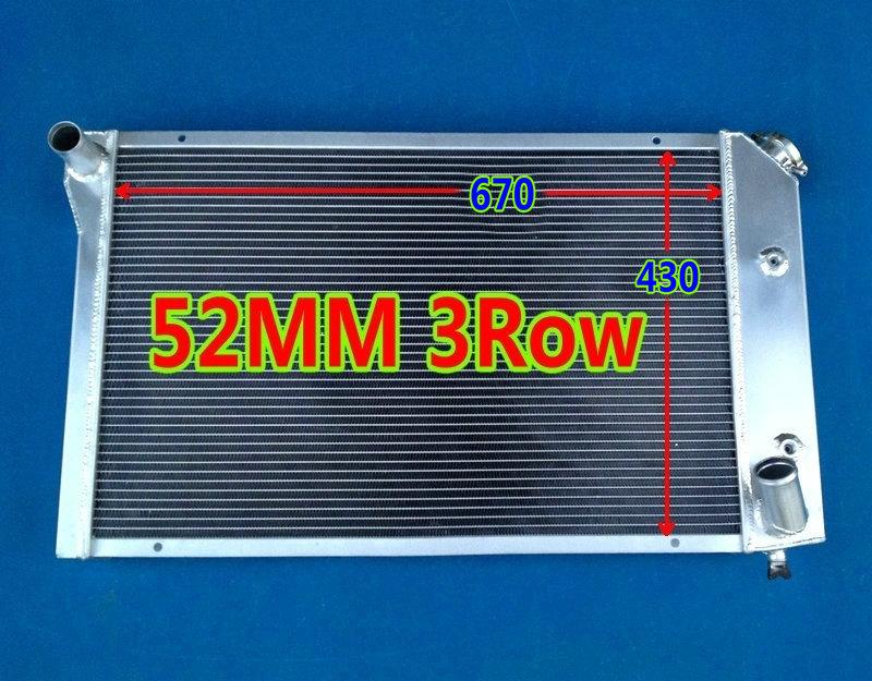 Алюминиевый радиатор 3 ряда 52 мм для Chevrolet CHEVY Corvette C3 V8 305 350 5.0L 5.7L купе AT/MT 77 78 79 80 81 82
