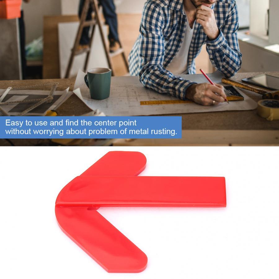 Красный ABS пластик центр Finder круговой центр точка Finder центр плотник деревообрабатывающая линейка, измерительный инструмент дешевая цена