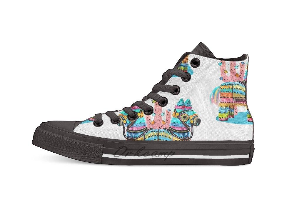 Piñata zapatos de lona altos informales zapatillas Zapatillas de andar ligeras