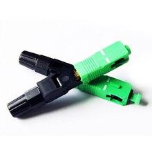 10 pièces/lot SC SC/APC connecteur rapide à fibers optiques Multimode FTTH SC monomode UPC connecteur rapide (50 pièces, 100 pièces en option)