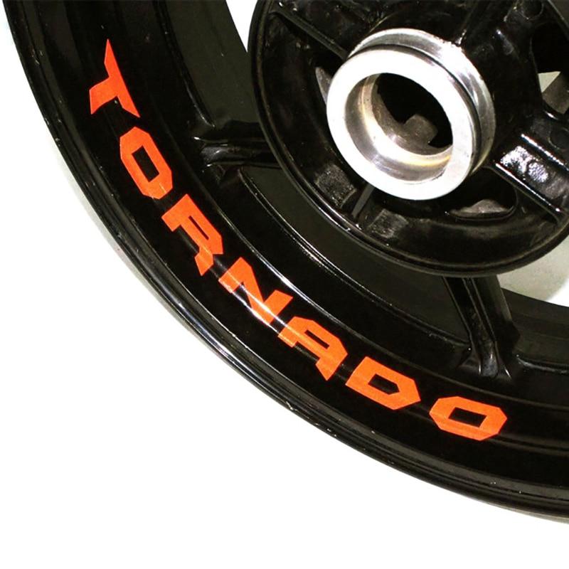 Etiqueta adhesiva de la rueda de la motocicleta de la bicicleta de la llanta reflectante adecuada para APRILIA TORNADO