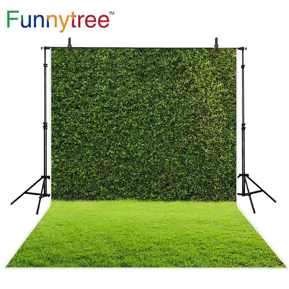 Funnytree background photocall quintal artificial abstrato grama verde parede bonito tapete fora de fundo fotográfico