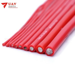 Сверхгибкий кабель для тестовой линии, 8, 10, 12, 14, 16, 18, 20, 22 AWG, красный, черный, силиконовый провод, высокая температура