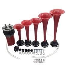 110DB Loud Car Horns 5 Air Horn Trumpet Kit Musical Speaker