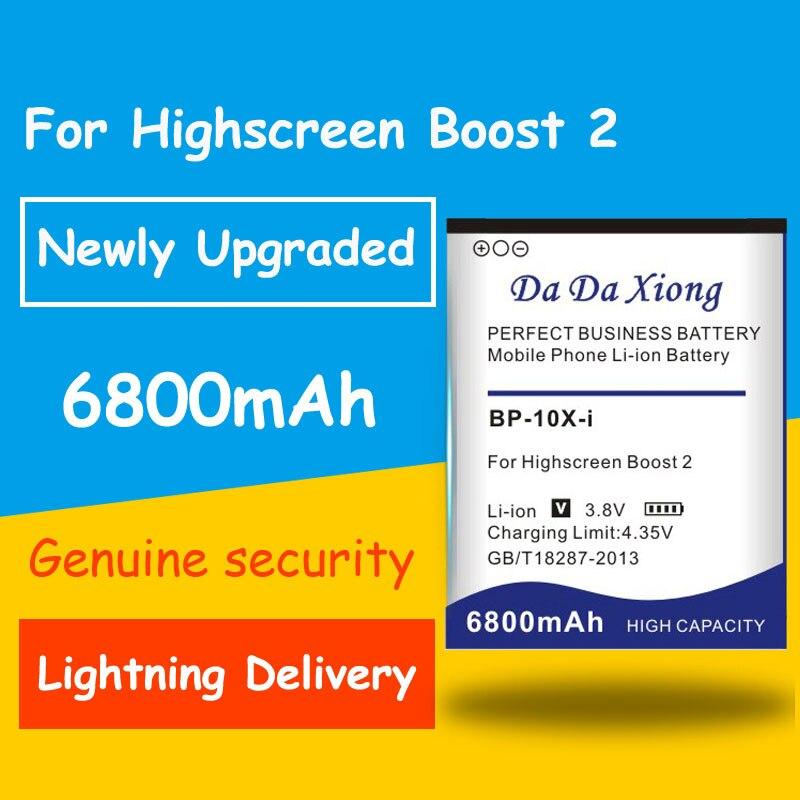 Batería de seguridad genuina 6800mAh BP-10X-i para batería de teléfono inteligente de alta pantalla boost 2 II innos D10 D10F