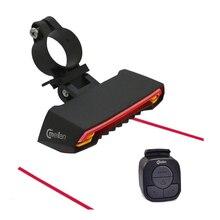 Meilan X5 беспроводной Велосипедный стоп-сигнал версия вспышка безопасности задний поворот велосипедный беспроводной пульт дистанционного управления поворотный лазерный свет