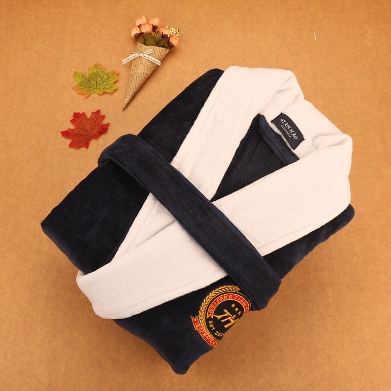 Plus size XXXL Men's robe towel fleece kimono robe pijamas cotton thickening toweled men bathrobe warm thicken lovers winter