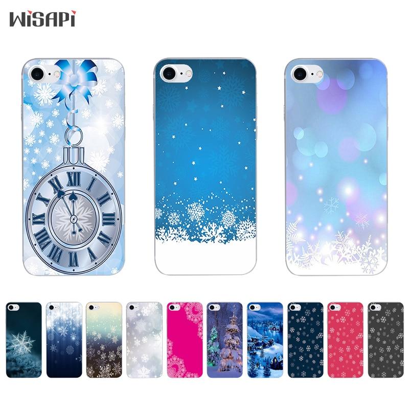 Capa de Silicone Para iPhone 7 plus 7 8X10 Shell para o iphone 5S 5c SE 6 6 s 6 plus Caso Bumper TPU Transparente Branca de Neve Caso de Telefone