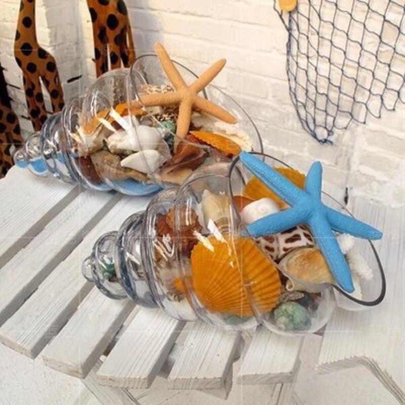 O. RoseLif 1 Uds. Jarrón de cristal con forma de concha, mini tazón creativo, decoración contemporánea para el hogar, regalo de boda