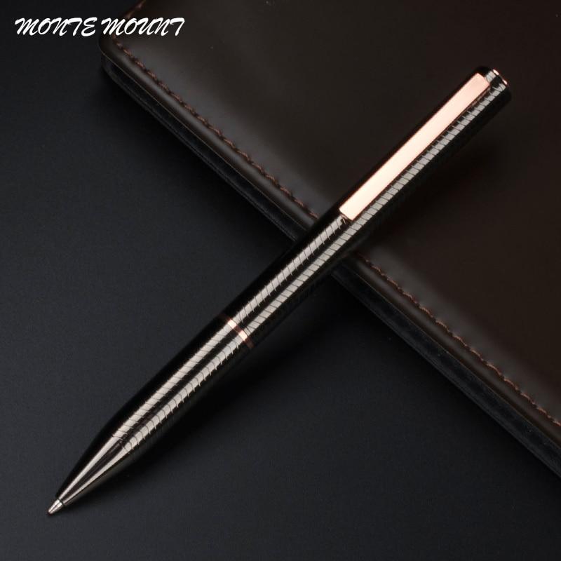 Bolígrafos de caligrafía de firma de escritura de negocios de alta calidad de Bolígrafo de Metal de lujo material de papelería para oficina y Escuela 03733