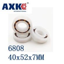 Axk 6808 Pom (10pcs) Plastic Ball Bearings 40x52x7mm Glass Balls 40mm/52mm/7mm 61808pom