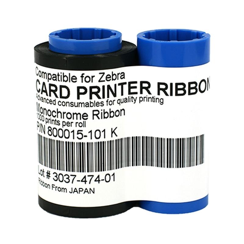 طابعة 800015-101 شريط أسود 1000 مطبوعات لل زيبرا P300C P310F P310C P310I P320I P330I P400C P420C P420I P430I بطاقة طابعة