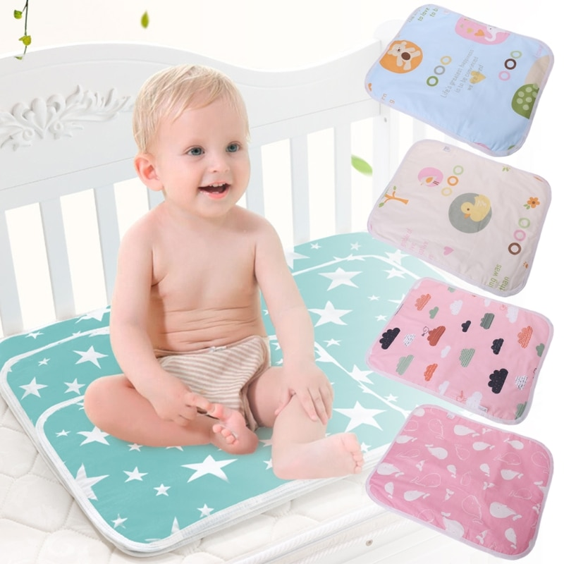 Almohadilla de cambio de bebé de 35*45cm, reutilizable, lavable, plegable, impermeable, para cochecito, pañal, colchón portátil, fundas para pañales de alta calidad