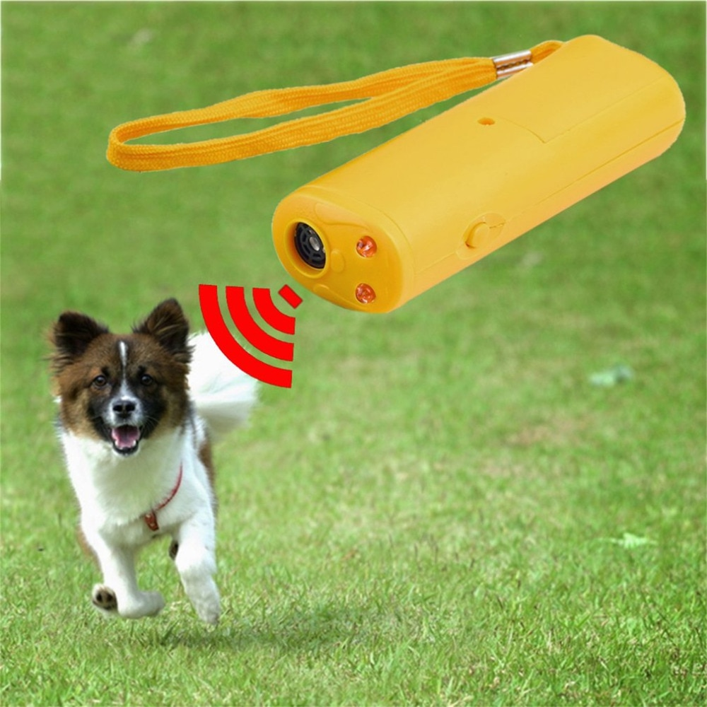 3 в 1 антилай Стоп лай Ультразвуковой Отпугиватель для питомцев, тренировочный тренажер для собак, светодиодный фонарь, оптовая продажа