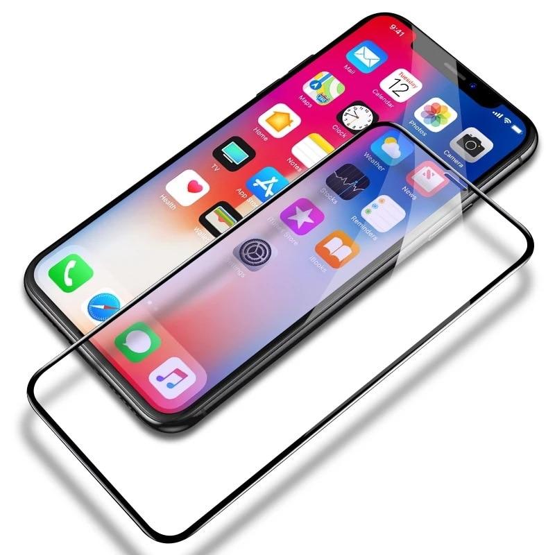 10 Uds templado pantalla cristal protector para iphone xs iphone XS verre trempe szklo sklo pelicula vidrio cristal pantalla mica