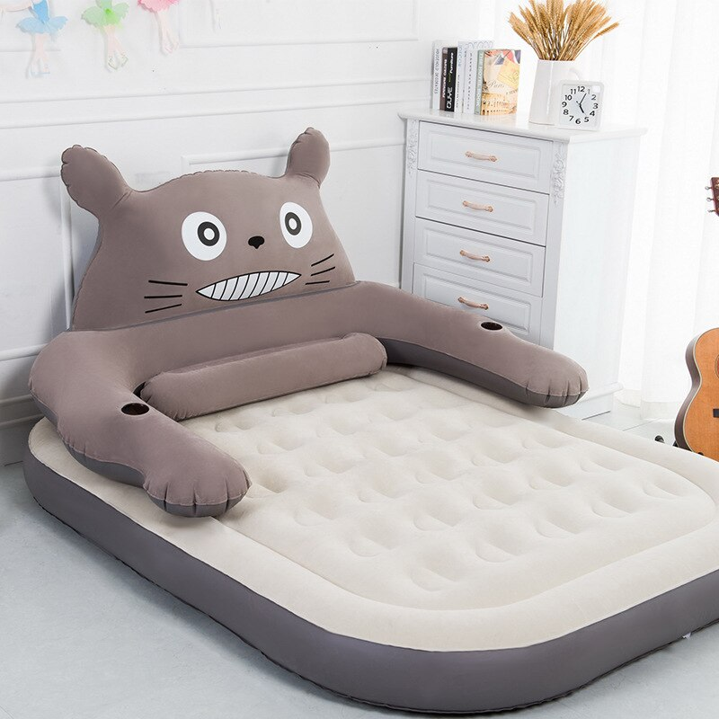 Colchón inflable, cama inflable para personas individuales o dobles, cama de gas para el hogar, cama de cojín de aire portátil para exteriores