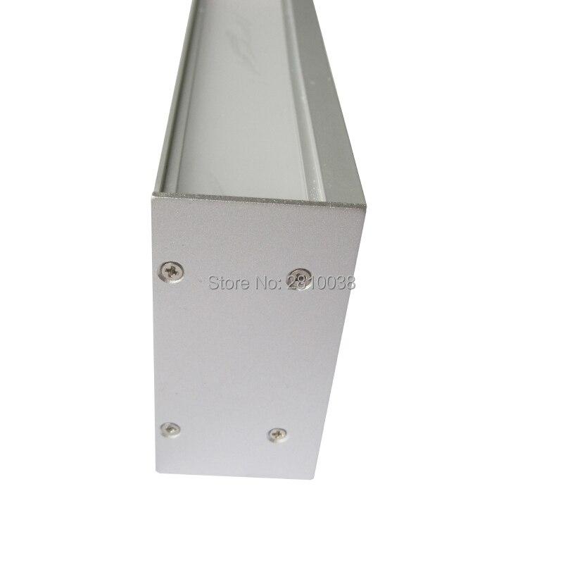 ملف LED مصنوع من الألومنيوم المؤنود بطول 10 × 1 متر ، ملف ملف ملف شخصي ومثبت بألو بروفيل مع محرك داخلي لأضواء الحائط
