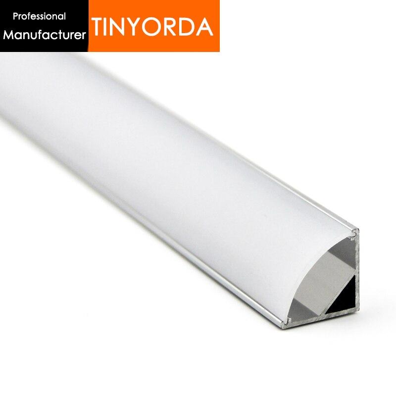 Tinyorda 100Pcs (2M Length) Led Strip Profile Led Channel Profil for 11mm LED Strip Light [Professional Manufacturer]TAP1616