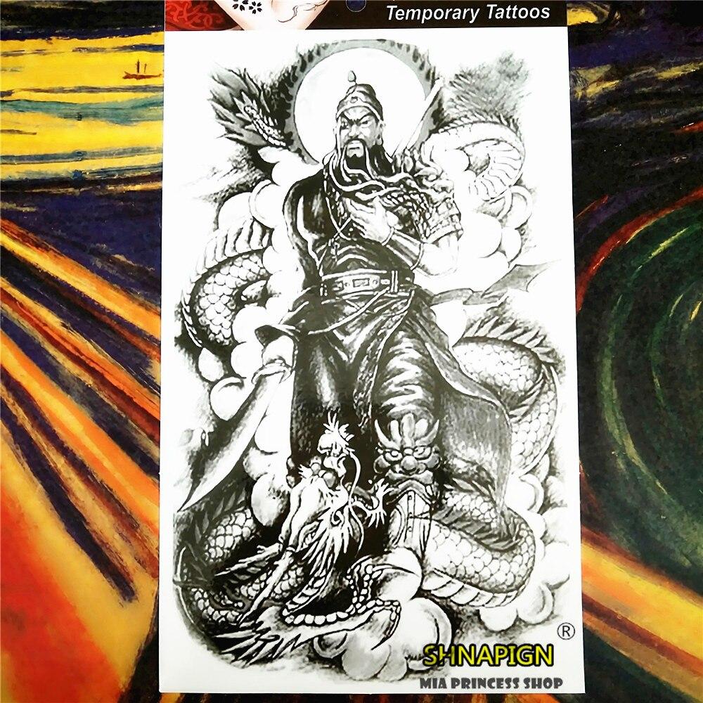 SHNAPIGN tatuaje temporal Mars negro arte corporal, 12*20cm Flash tatuaje pegatinas, impermeable Tatuaje falso Henna adhesivo mural de estilo tatuaje
