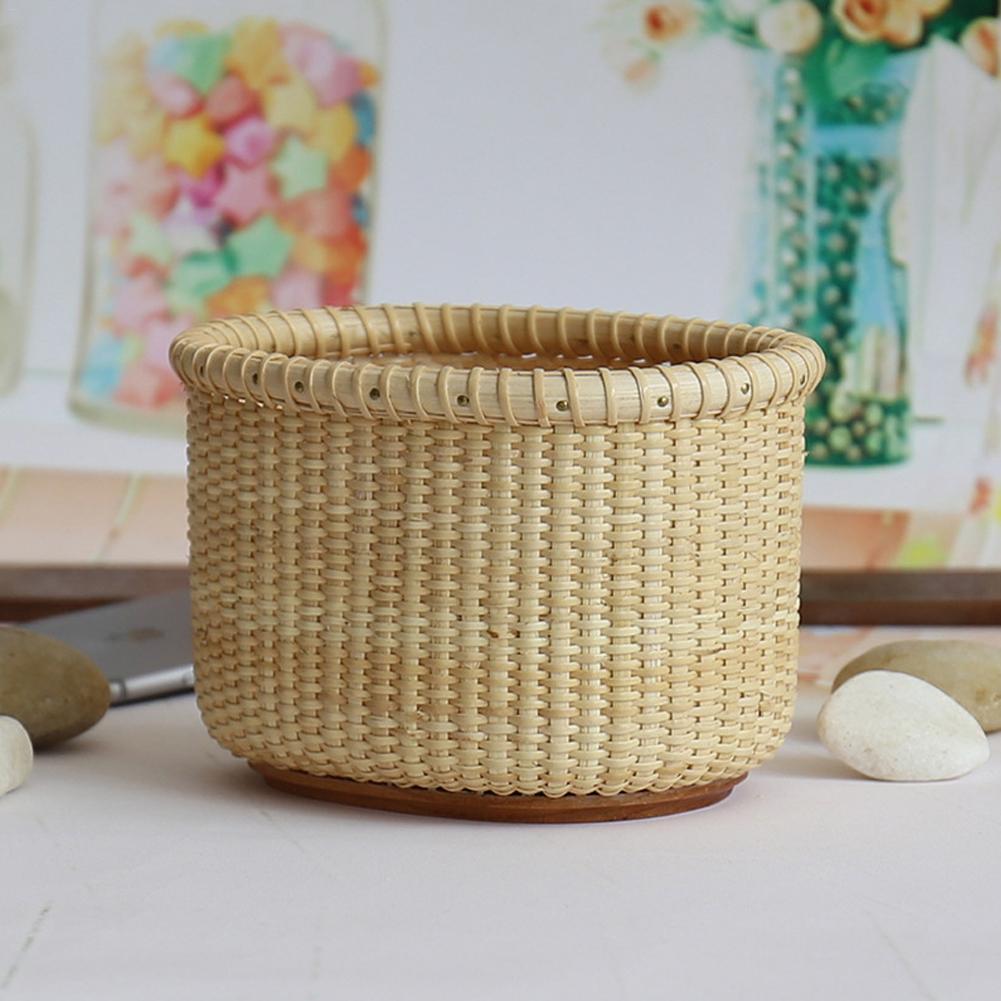1 piezas casa cesta de almacenamiento de madera Base de Nantucket cesta de escritorio de mimbre de almacenamiento caja de mano tejida organizador Dropshipping. exclusivo.