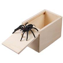 En bois nouveauté blague astuce pratique blague maison bureau peur jouet boîte Gag araignée souris enfants drôle cadeau