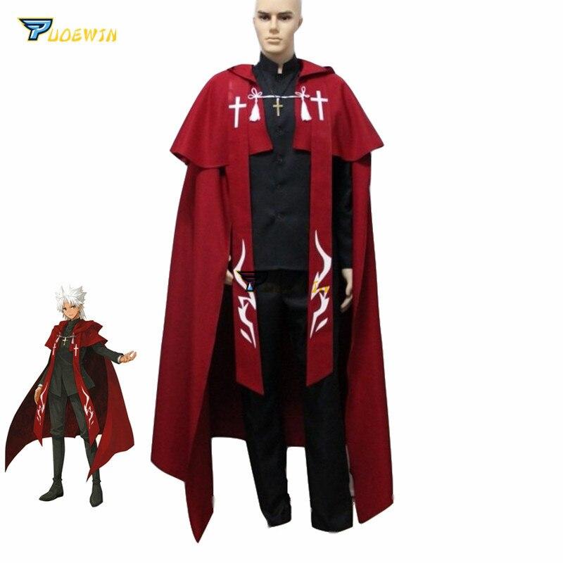 Fate grand order shirou kotomine cosplay traje fgo amakusa shirou tokisada feito sob encomenda