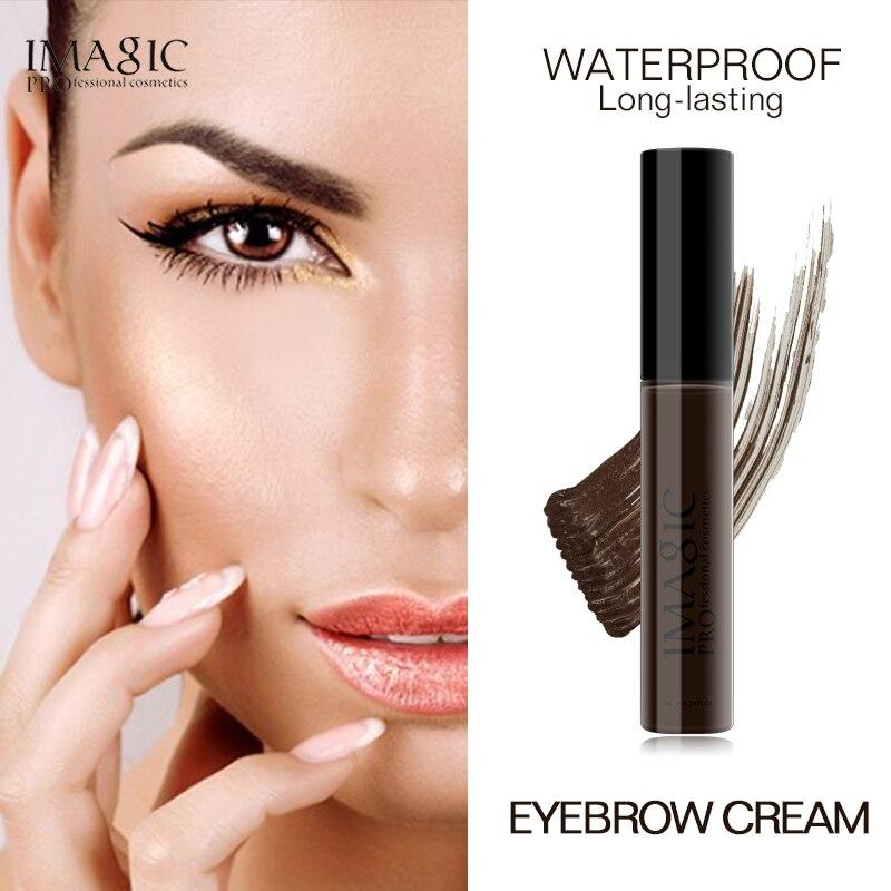 IMAGIC 4 colores larga impermeable duradera mascara en crema para cejas ojo sombra maquillaje gel potenciador de cejas