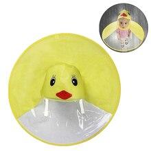 Twórczy dziecięcy pokrowiec przeciwdeszczowy kreskówka kaczka UFO dziecięcy płaszcz przeciwdeszczowy chłopcy i dziewczęta czapka parasolka wiatroodporny Poncho sprzęt przeciwdeszczowy gorący