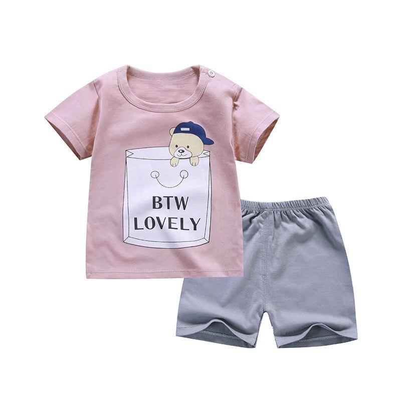 Одежда для мальчиков, комплект летней одежды из 2 предметов с коротким рукавом для девочек, качественный детский комплект одежды, 2019