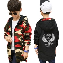 Veste pour garçon, veste pour enfants, manteau de camouflage double face, coupe-vent vêtements dextérieur automne, de 4 à 13 ans