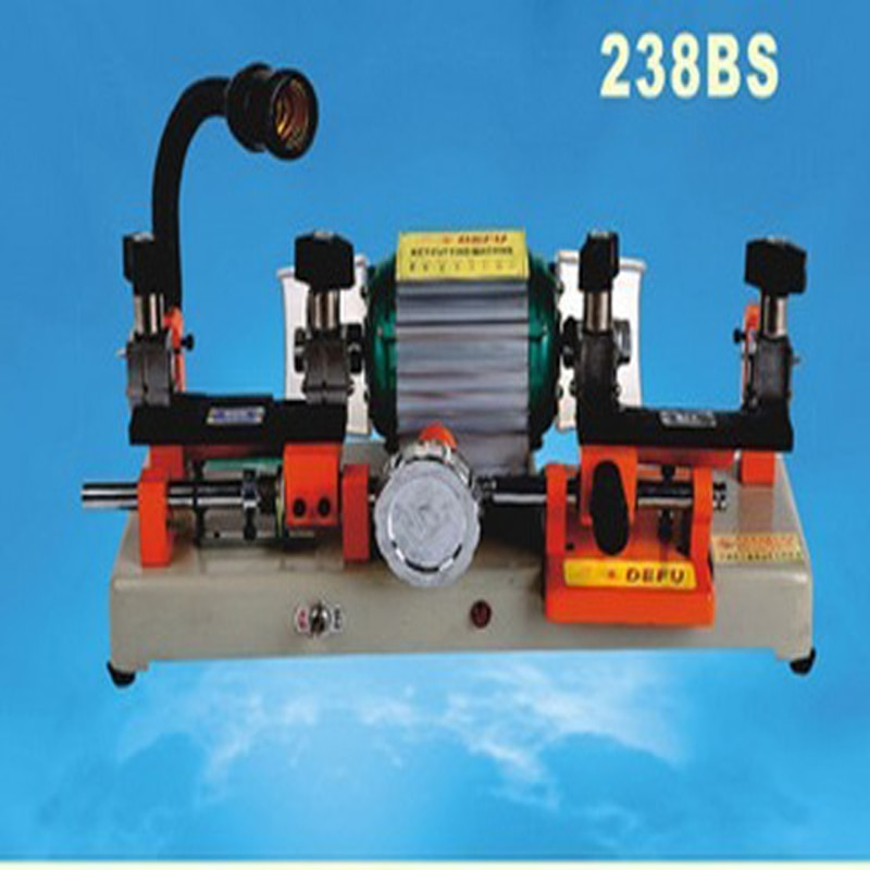 1pc  220v/50hz or 110v/60hz model 238bs key cutting machine key abloy machine double head key machine rumi seven r socks machine use rumidraw graphical program hardlock key