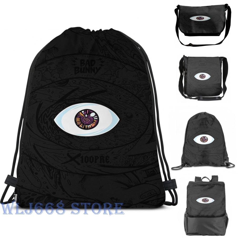 Bolso de hombro estampado gráfico divertido Bad Bunny Mujer-X100PRE mochila de un solo hombro bolsa de viaje para hombre gimnasio