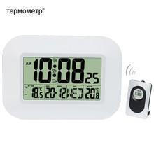 Grande horloge murale LCD numérique   Thermomètre à température Radio contrôlée alarme RCC calendrier de Table, pour maison école bureau