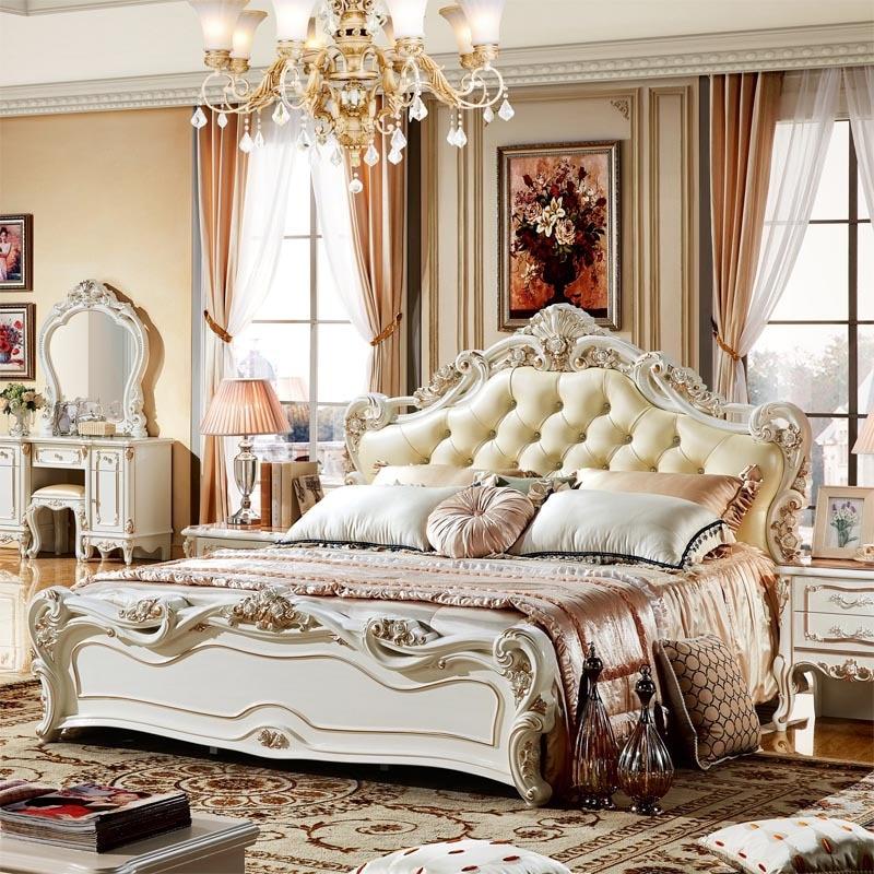 Роскошные Королевские комплекты спальной мебели из Китая