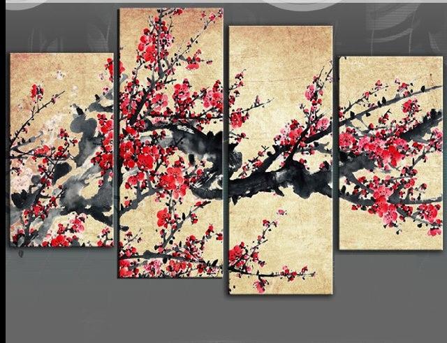 Pintura a Óleo Pintados à Mão de Alta Imagens de Arte Pintura de Flores Qualidade Moderna Presente Dm-15050346